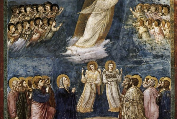 catequesis arte giotto ascension arguments 600x403 - La Ascensión del Señor. Giotto