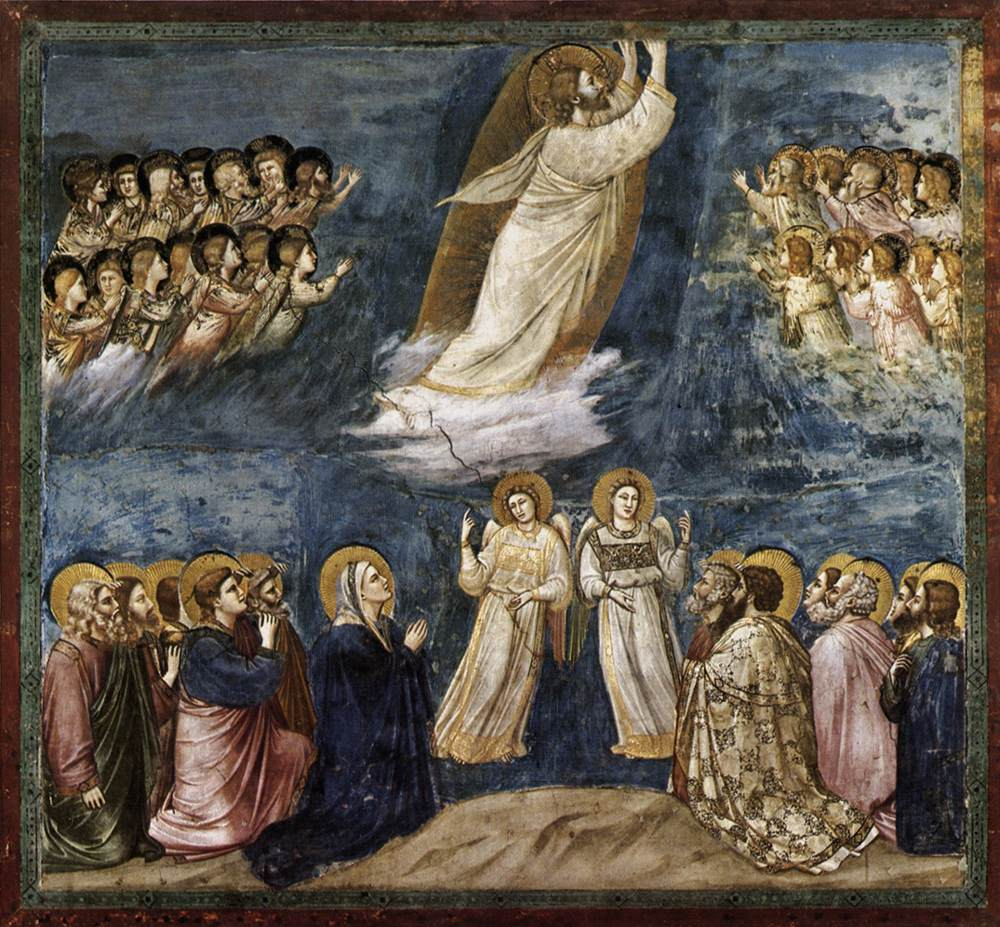 catequesis arte giotto ascension arguments - La Ascensión del Señor. Giotto