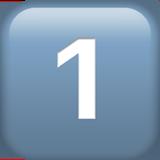 keycap digit one 31 fe0f 20e3 - Inicio