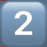 keycap digit two 32 fe0f 20e3 - Inicio