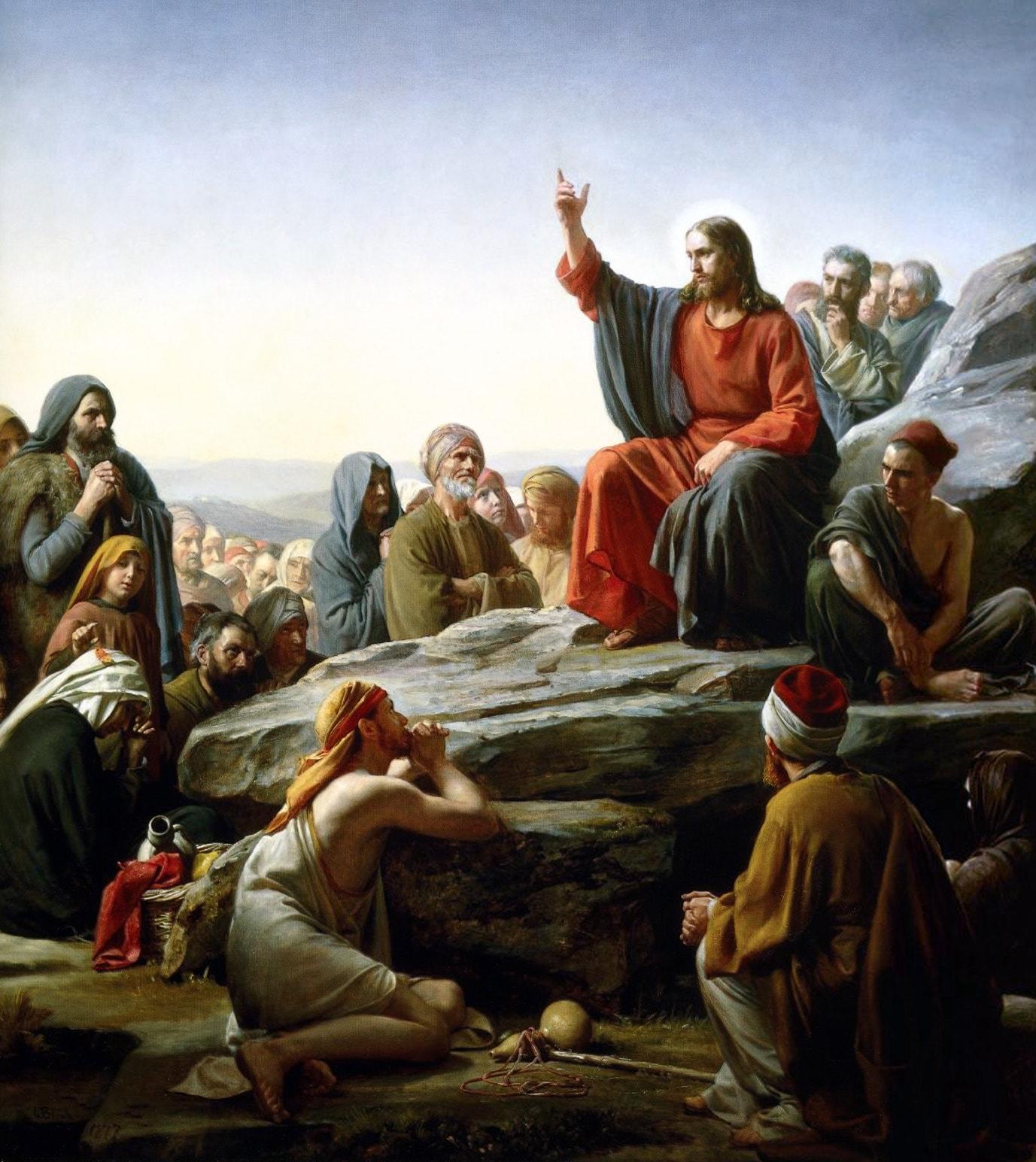 Image result for jesus predicando