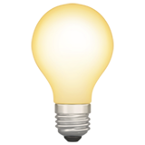 electric light bulb 1f4a1 - Inicio